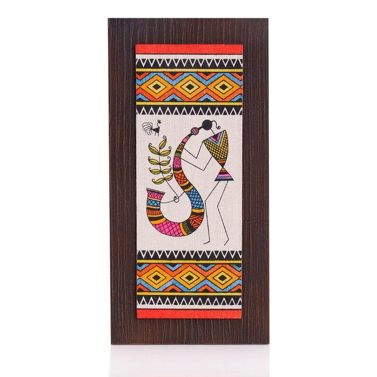 Wooden Wall Hanging - Jute Art Warli   #WedTree #ReturnGifts #OnlineShopping