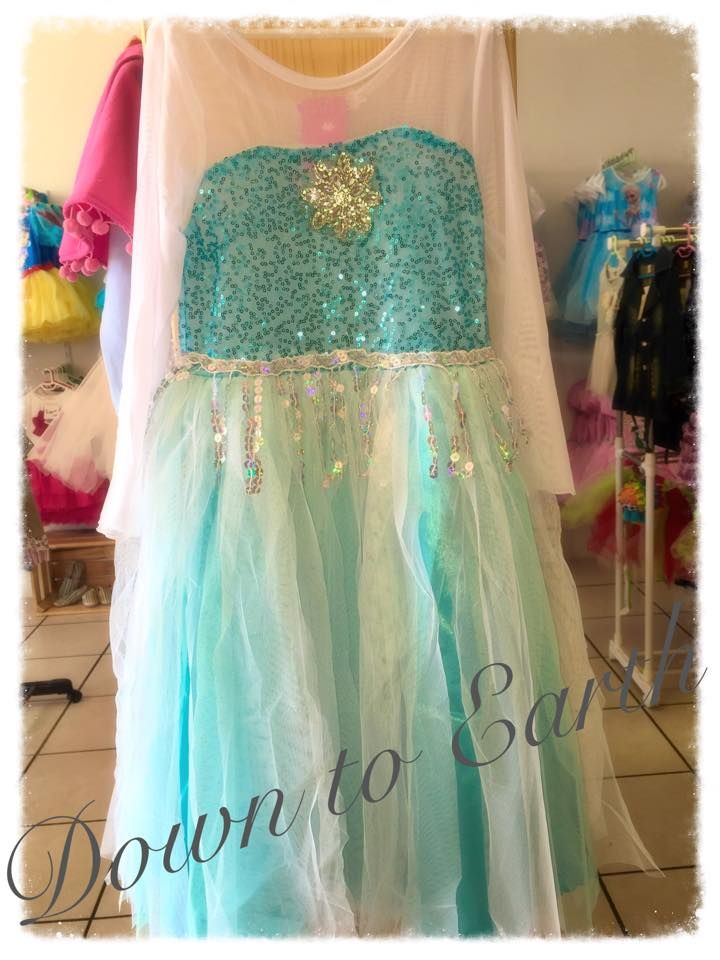 This cute fancy Elsa dress is the perfect outfit for any little girl to wear.