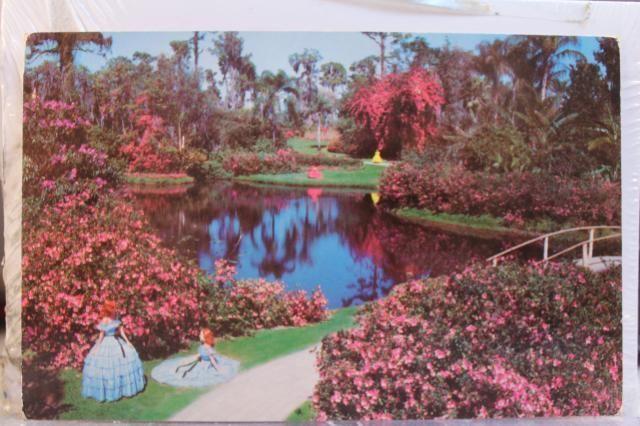 Old Florida Postcards | Florida FL Cypress Gardens Sunshine Flowers Fairyland Postcard Old ...