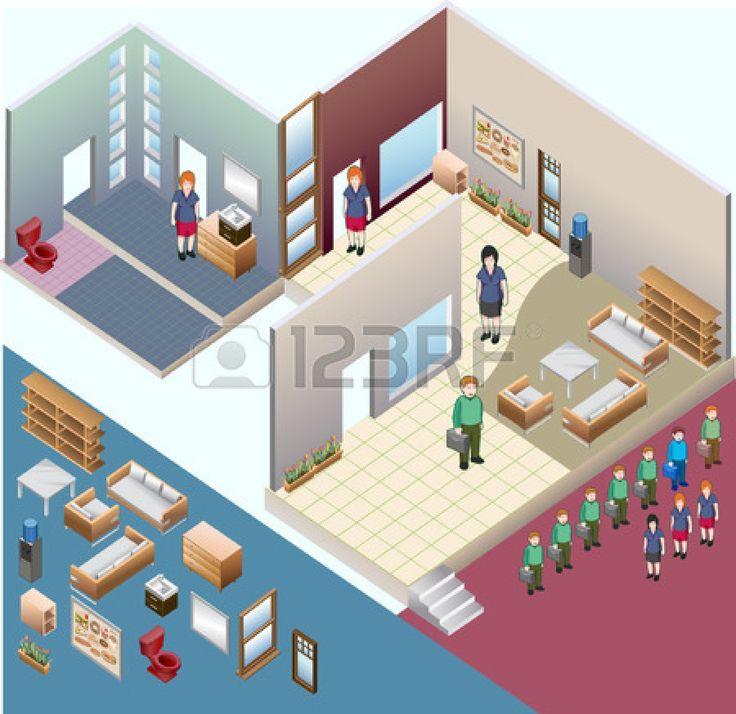 sometric espacio interior interior personalizada serie isom�trica