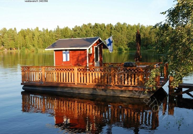 Sauna by the lake, Finland