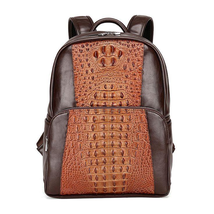 """Brand men Backpacks Alligator fashion bag women backpack 14"""" school Laptop bag travel men's backpacks men bags"""