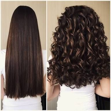 Image result for curly hair perm before and after