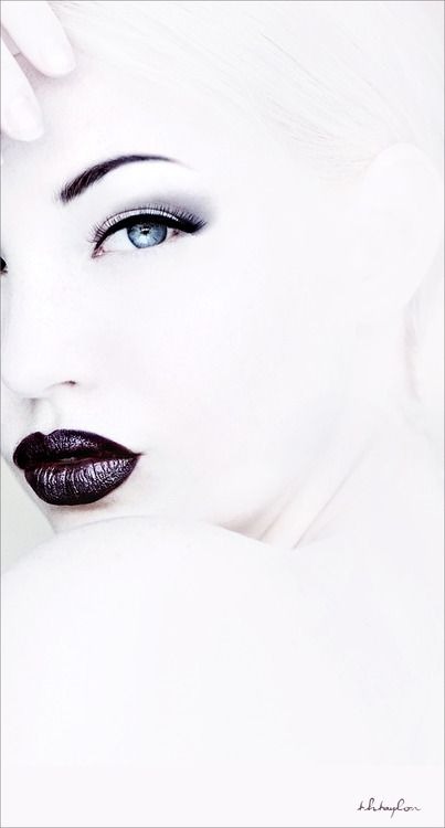 Not crazy about the black lips, but I love the high-key effect.