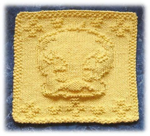 Free Knitting Pattern - Dishcloths & Washcloths : Yellow Bird Washcloth