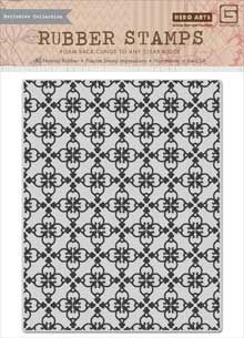 Hero Arts - BasicGrey - Herbs N Honey Collection - Repositionable Rubber Stamps - Tile Background at Scrapbook.com