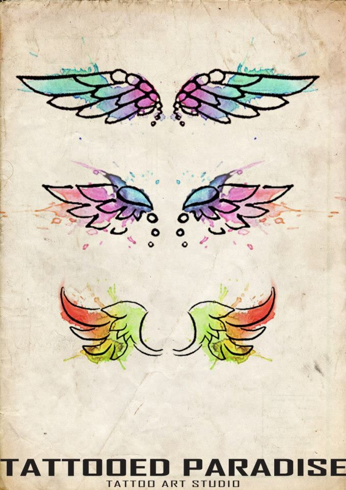 angel wings from tattooed paradise