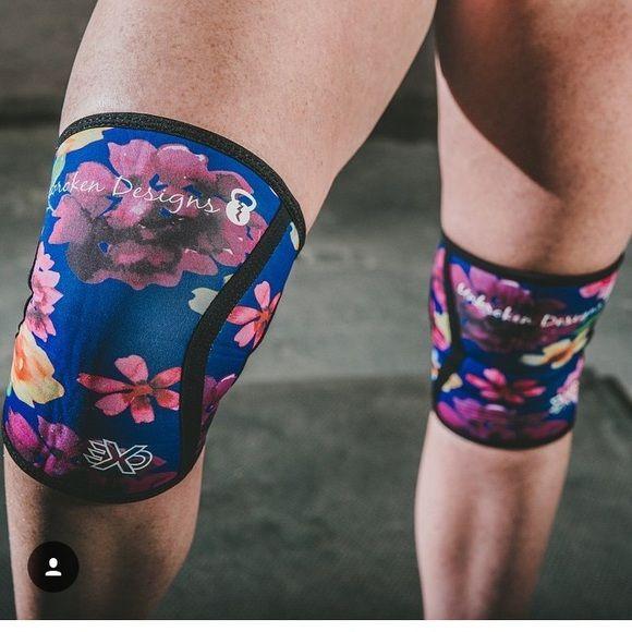 Unbroken knee sleeve crossfit favorites Unbroken floral knee sleeves size medium NEW Other
