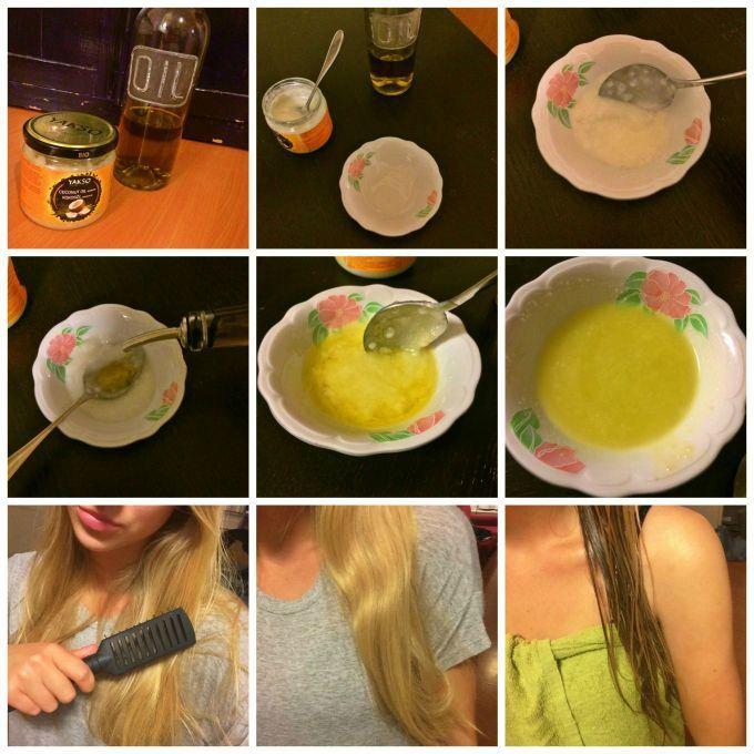 Kokos olijfolie haarmasker maken