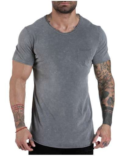 ΝΕΕΣ ΑΦΙΞΕΙΣ :: T-shirt Long Line Pocketed Grey - OEM