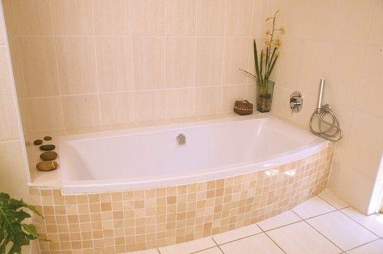 Bagno rosa e nero : Piastrelle mosaico in bagno (Foto)