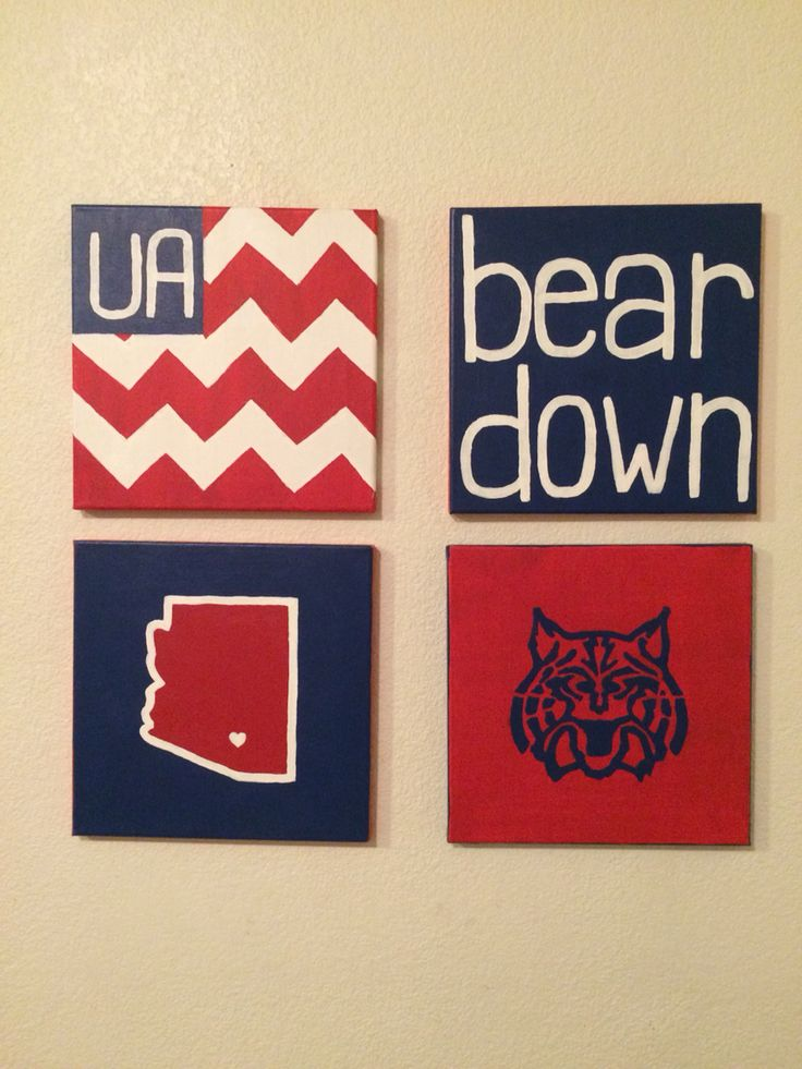 DIY University of Arizona canvas