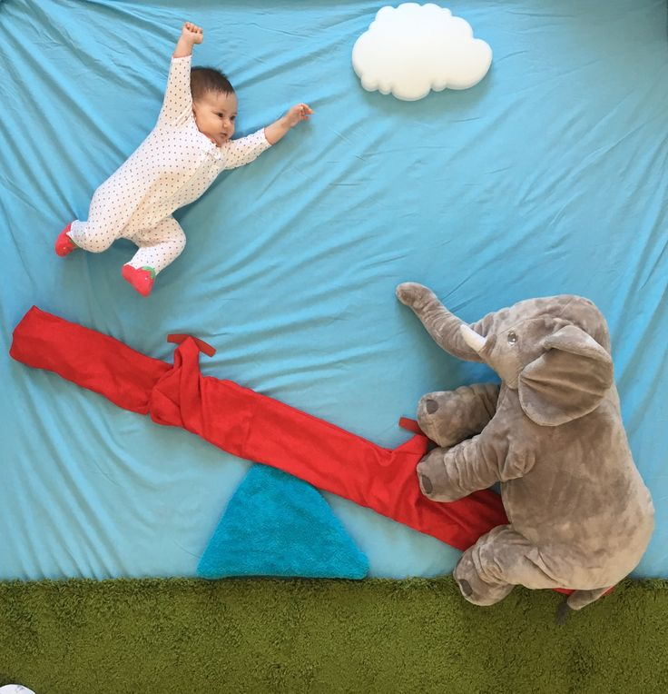 Seesaw with elephant...