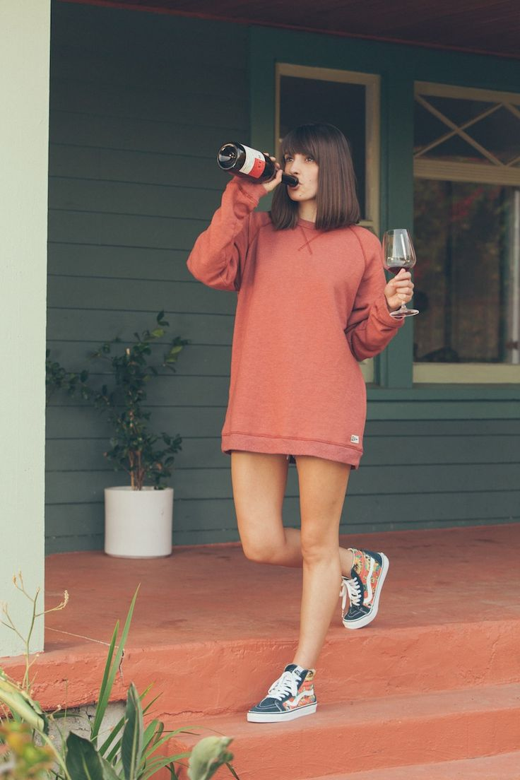 Kick-Ass Chicks Marissa A. Ross in Vans Sk8-Hi and pullover   Street Style   Pinterest   The ...