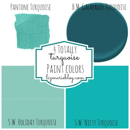 4 amazing turquoise paint colors for projects, walls, and furniture!