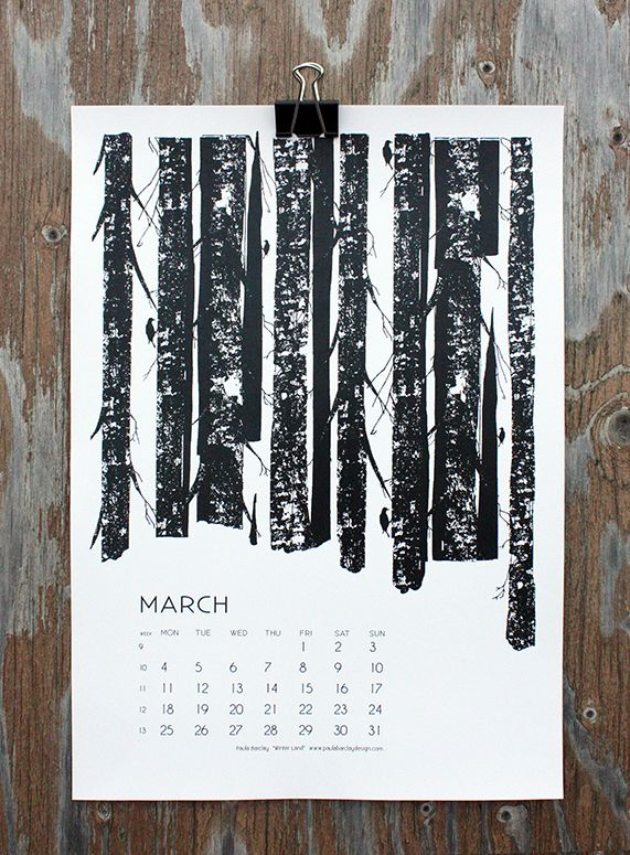 """Winter Land"" by Paula Barclay, for March in calendar 13."