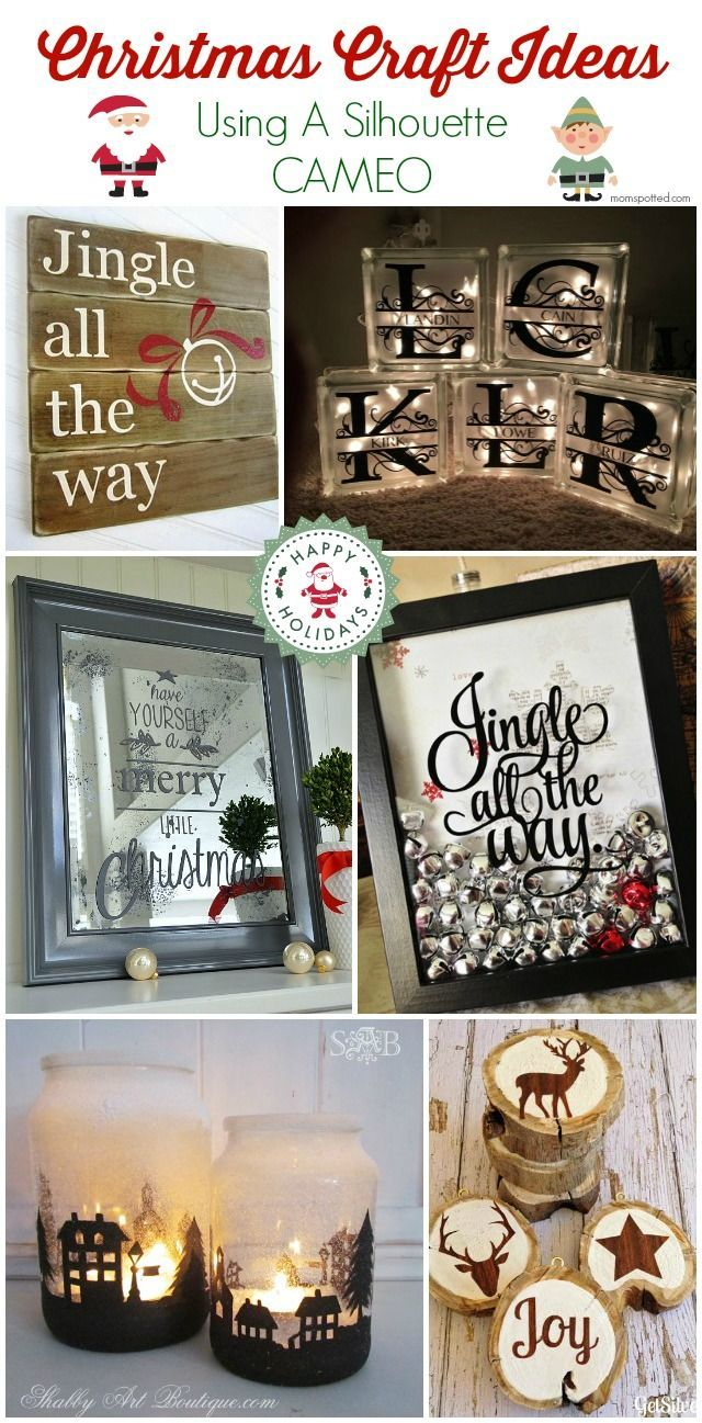 Looking for some great Christmas Craft Ideas Using A Silhouette CAMEO? Here's a list of 10 Ideas to get you started!