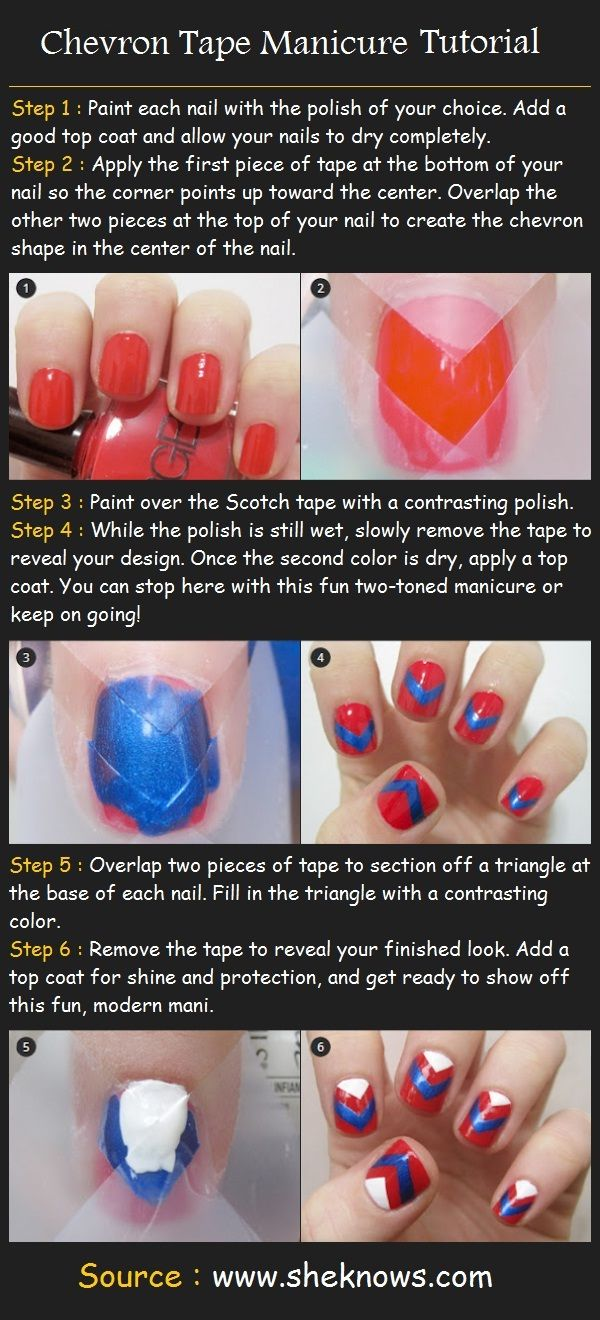 Chevron Tape Manicure Tutorial | Beauty Tutorials