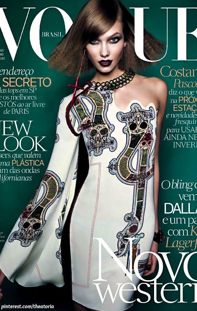 Karlie Kloss ● Vogue Brazil July 2014 by Henrique Gendre