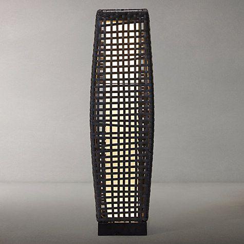 Buy John Lewis Large Outdoor Solar LED Rattan Lantern, Grey Online at johnlewis.com