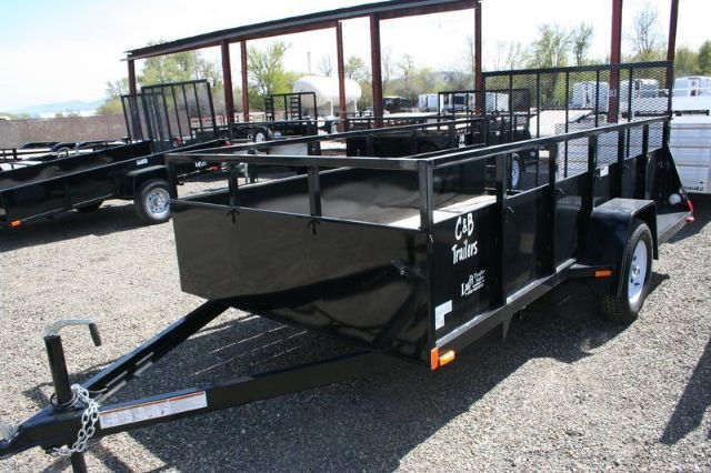 12.0 feet  2014 C&B 6X12 STEEL UTILITY  ATV Trailer , BLACK  for sale in Ellensburg, WA