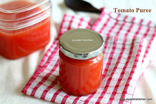 Jeyashri's Kitchen: TOMATO PUREE RECIPE | HOME MADE TOMATO PUREE RECIP...