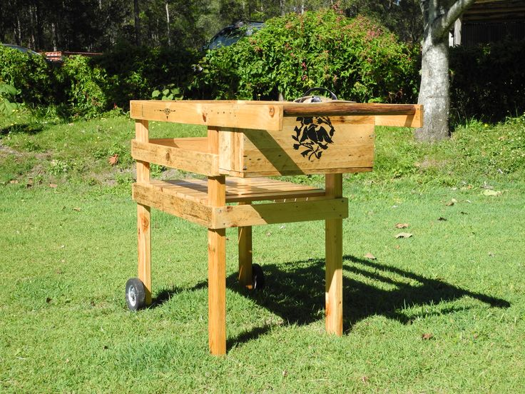 made from discarded pallet timber