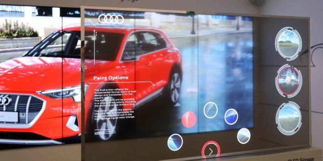 LG Transparent OLED Signage Is a Transparent Display at ISE