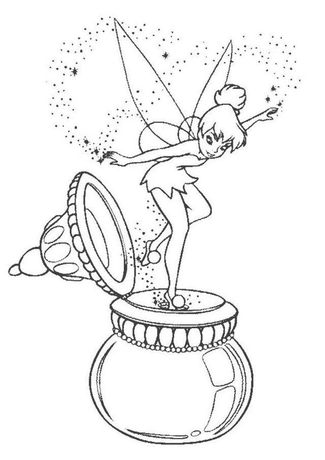 21+ Brilliant Picture Of Tinkerbell Coloring Pages - Entitlementtrap.com Tinkerbell  Coloring Pages, Fairy Coloring Pages, Disney Coloring Pages