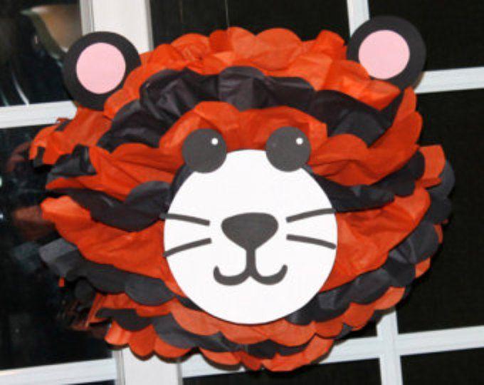 Tigre pom pom juego rey del safari de selva noahs Arca carnaval circo bebé ducha primer cumpleaños decoración del partido