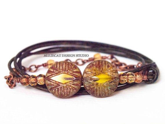 NEW Bohemian Bracelet Boho Wrap Bracelet by AlliecatDesignStudio