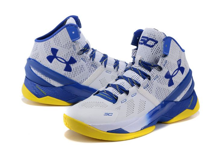 brand new 028bc 7b274 curry 2 shoes blue and yellow