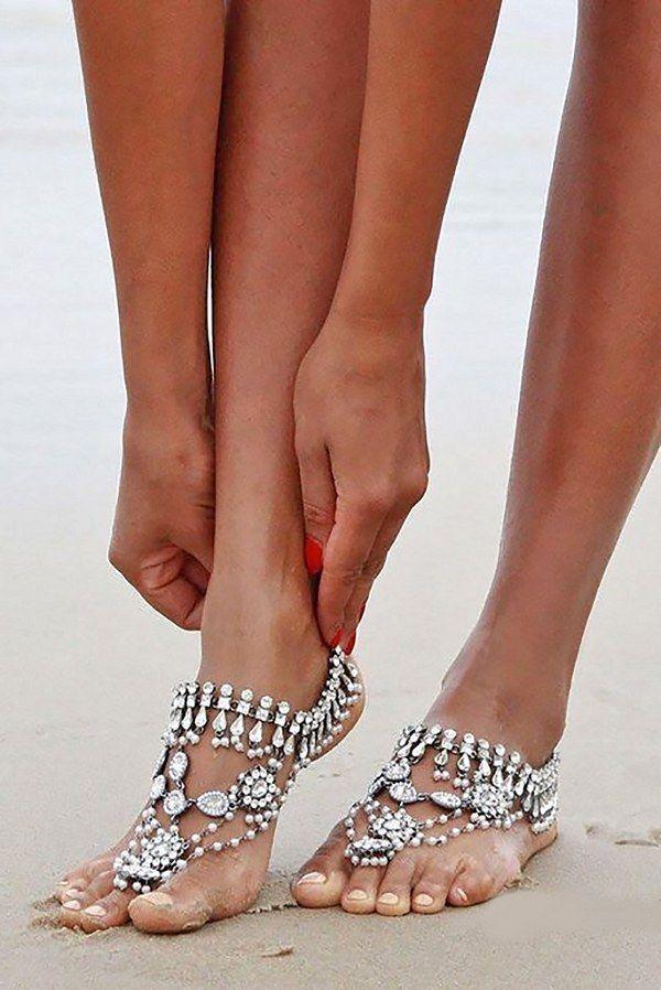 d6c31bce6b0b 40 Beach Wedding Shoes   Barefoot Sandals