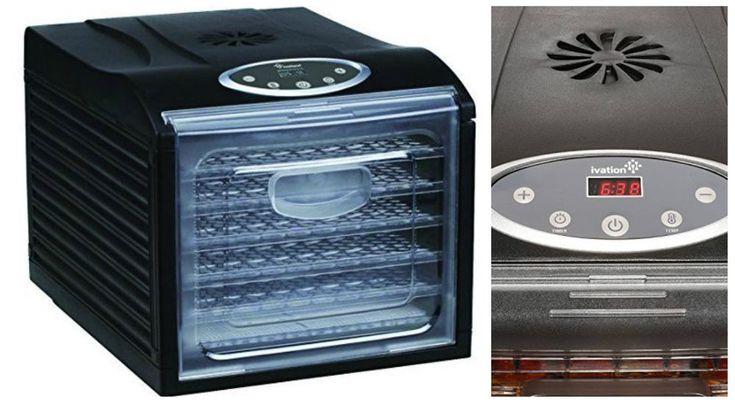 Electric Food Dehydrator Fruit Vegetable Dryer Machine Jerky Maker 6 Trays 480W #ElectricFoodDehydrators