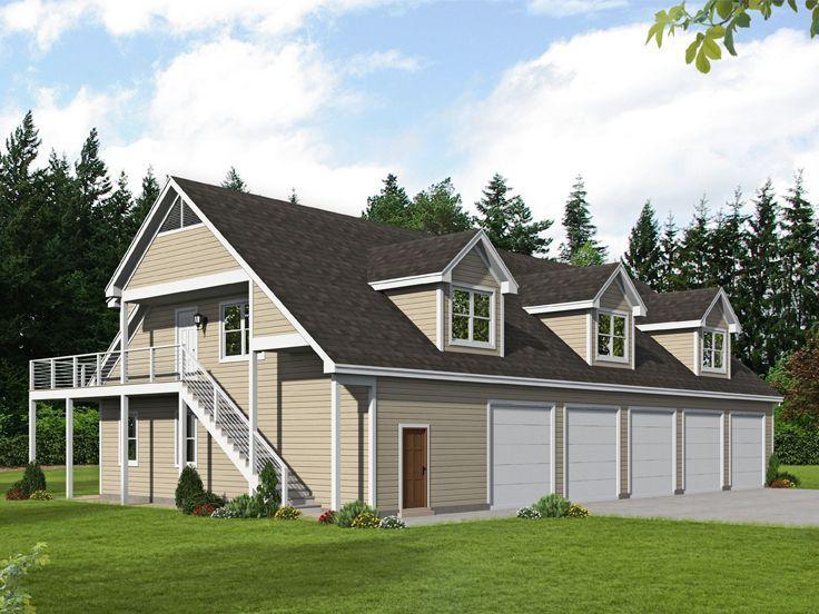 062h 0186 5 Car Garage Plan Offers Tandem Bays Apartment Carriage House Plans Garage Apartment Plans Garage Apartment Plan