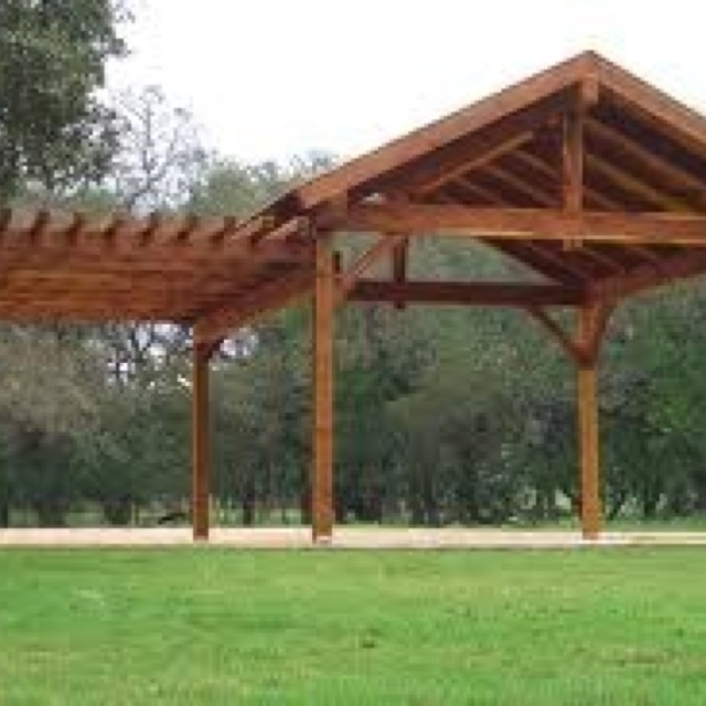 Heart Touching Ideas Of Gazebo Roof Or Cover: Backyard Pavilion - Attached Pergola
