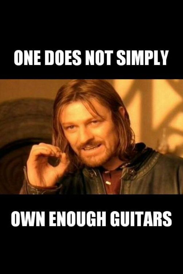 No such thing as too many guitars..