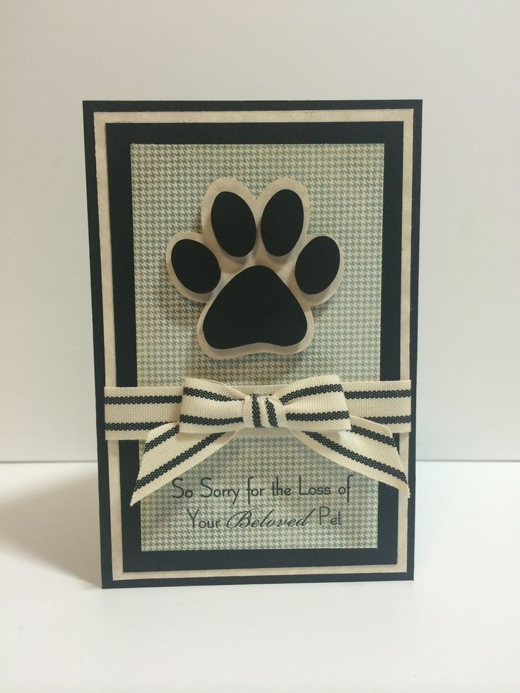 Loss of pet sympathy card-AS (Making Memories Slice Paws and Claws, MFT stamps)