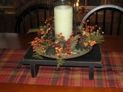 Primitive Table Riser  Love risers - I was told they are called tablescapes
