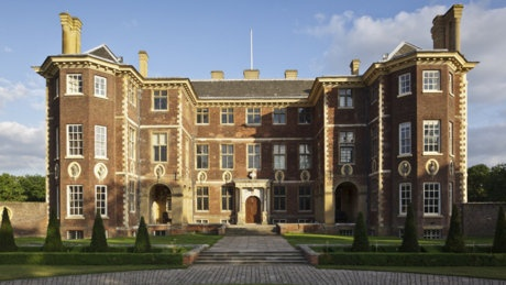 The Duchess of Romney-St. Neot's country house at Richmond-on-Thames where Alec attends the engagement celebrations of Emily St. Neot's to his estranged brother the Earl of Delvin. DEADLY ENGAGEMENT