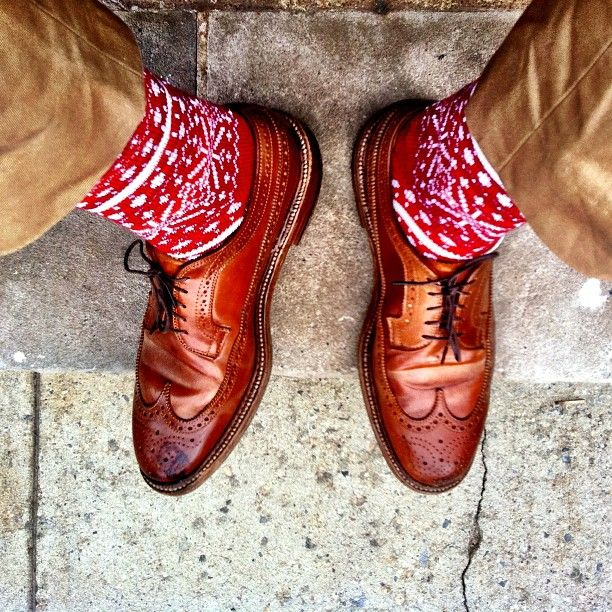 Not crazy about the fairisle socks, but some argyles would be killer with those awesome long wings