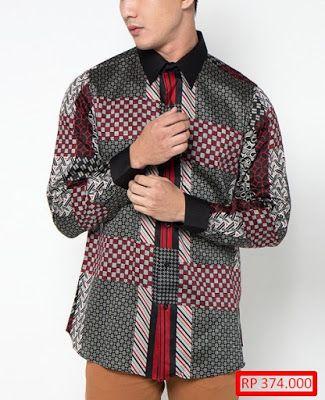 23 model baju batik pria lengan panjang kombinasi yang perlu kalian lihat  ace8ac9167
