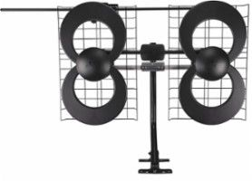 Antennas Direct - ClearStream 4V Indoor/Outdoor HDTV Antenna - Black/Silver - Front Zoom