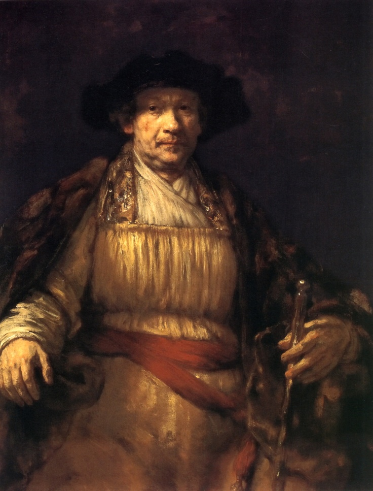 Self Portrait: 1658 by Rembrandt van Rijn (The Frick Collection, NYC) - Dutch Golden Age, Baroque