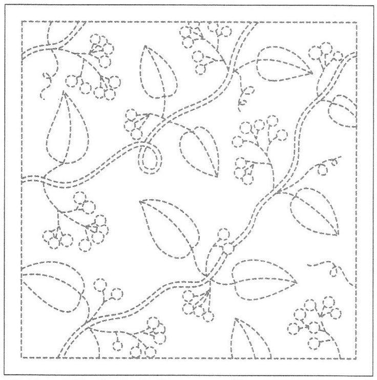 Sashiko Sampler Sashiko Sampler Leaves and Berries SS13/H