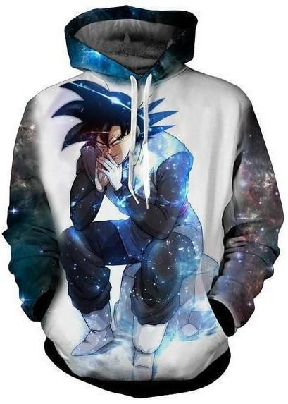 Dragon Ball Z Super Black Goku Black Hoodie Sweatshirt. 100% Cotton and Polyester blend, custom made sublimation printed technique and hand sewn hoodies, t-shirts, and long sleeves clothing.   For our 3D clothing, unless there is a picture on the back for our product images, all of our 3D clothing are printed front and back with the same image.                 FREE Shipping  NOT SOLD IN STORES          Gender: Unisex  Material: Cotton, Polyester Spandex Blend Machine Washable and Dryer Safe…