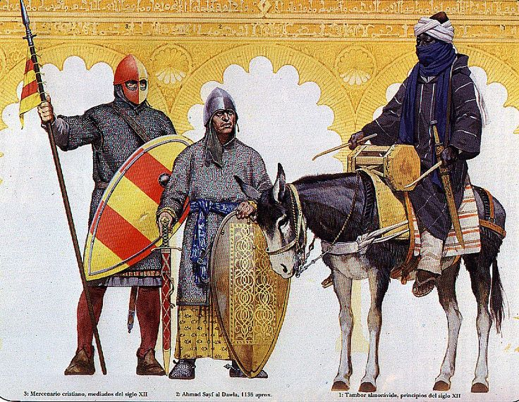 SPAIN / Medieval - Almorávides.  Muslim warriors of Al-Andalus (Spain).