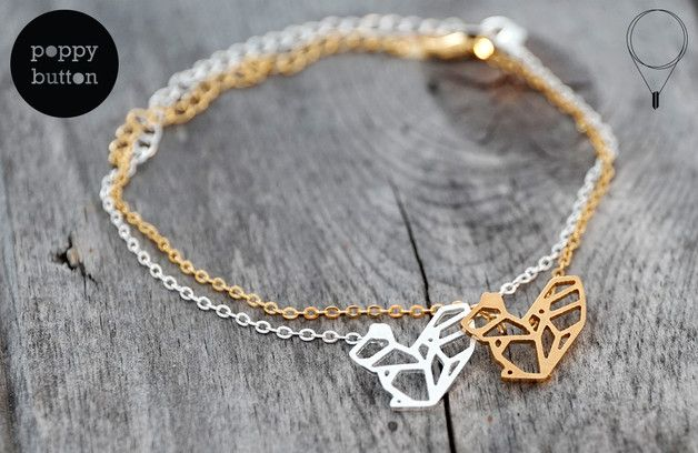 Armreife - Eichhörnchen Armband vergoldet Edelstahl - ein Designerstück von poppybutton bei DaWanda