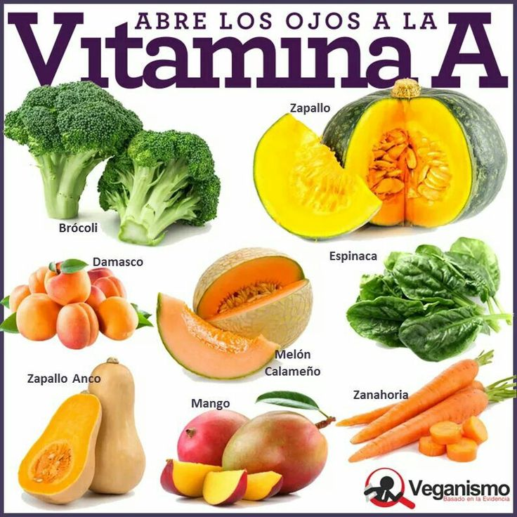 Vitamina a vegano vegetariano saludable pinterest for Comidas con d