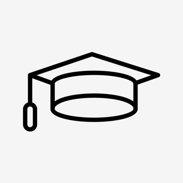 Vector Graduation Cap Icon Graduation Hat Clipart Graduation Icons Cap Icons Png And Vector With Transparent Background For Free Download Graduation Cap Minimalist Drawing Graphic Design Background Templates